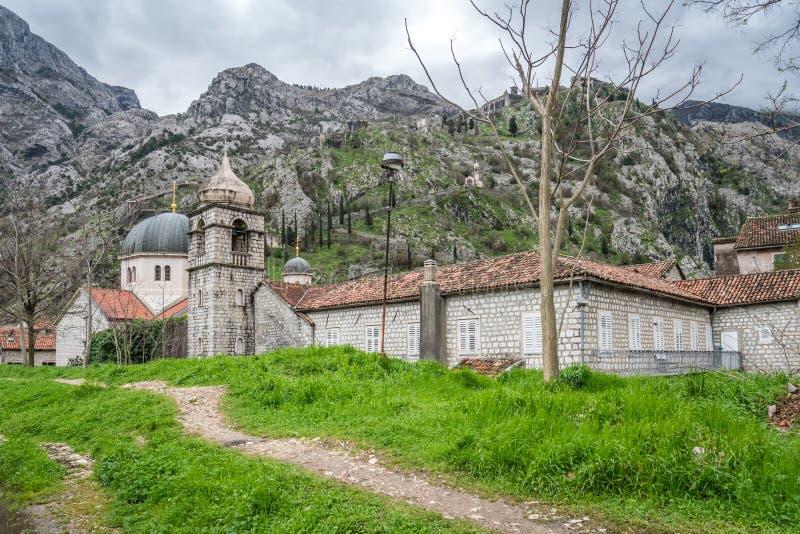 Kotor的圣尼古拉斯教会 库存图片