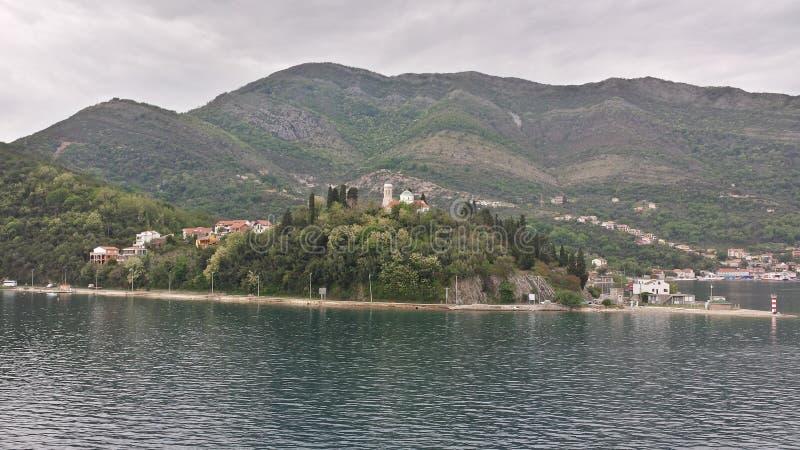 kotor Μαυροβούνιο κόλπων στοκ εικόνες