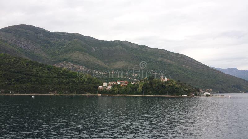 kotor Μαυροβούνιο κόλπων στοκ εικόνα