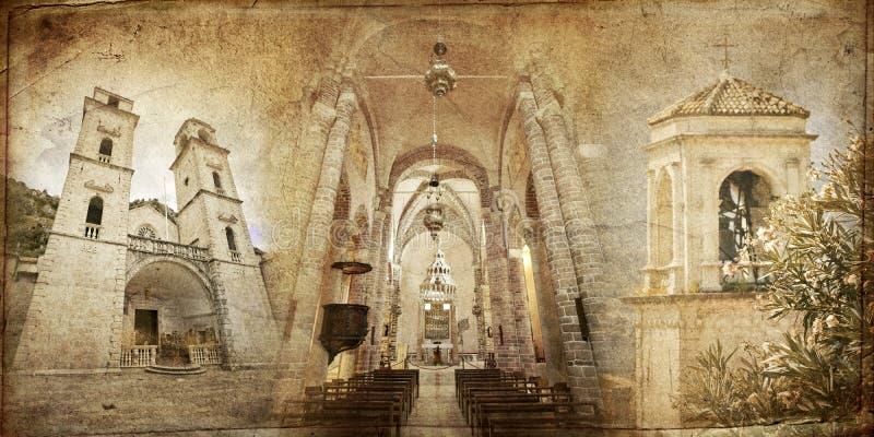 kotor собора стоковые фотографии rf