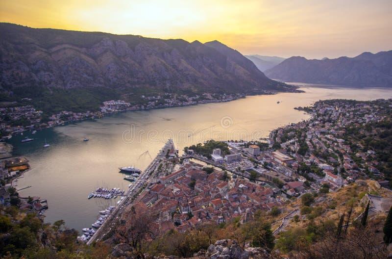 Kotor i en härlig sommardag, Montenegro royaltyfria foton