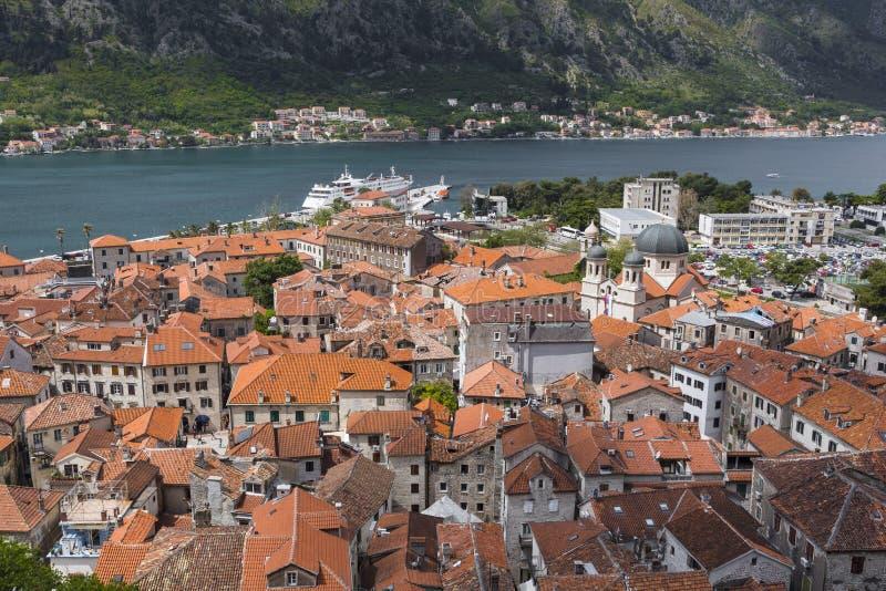 Kotor, Monténégro La baie de la baie de Kotor est une des plus belle photos stock