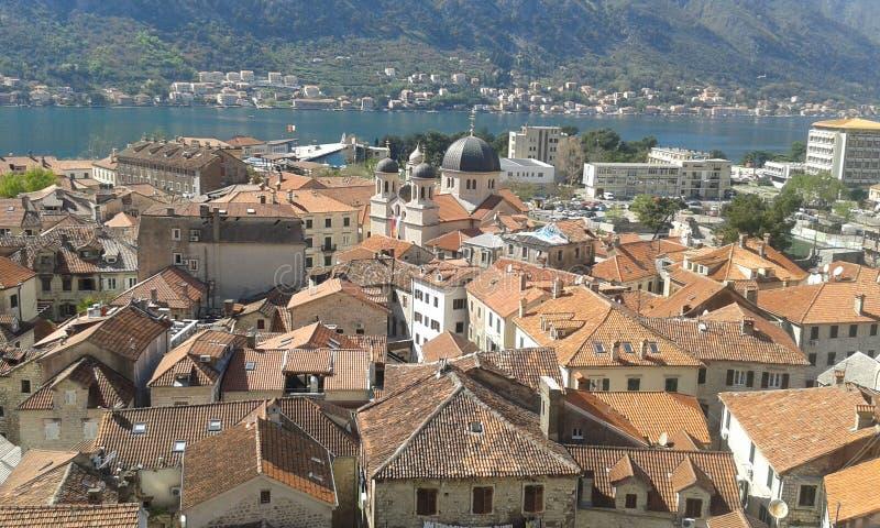 kotor, montenegrà ³, Europa, reis, ontzagwekkende, mooie mening, overzees stock foto