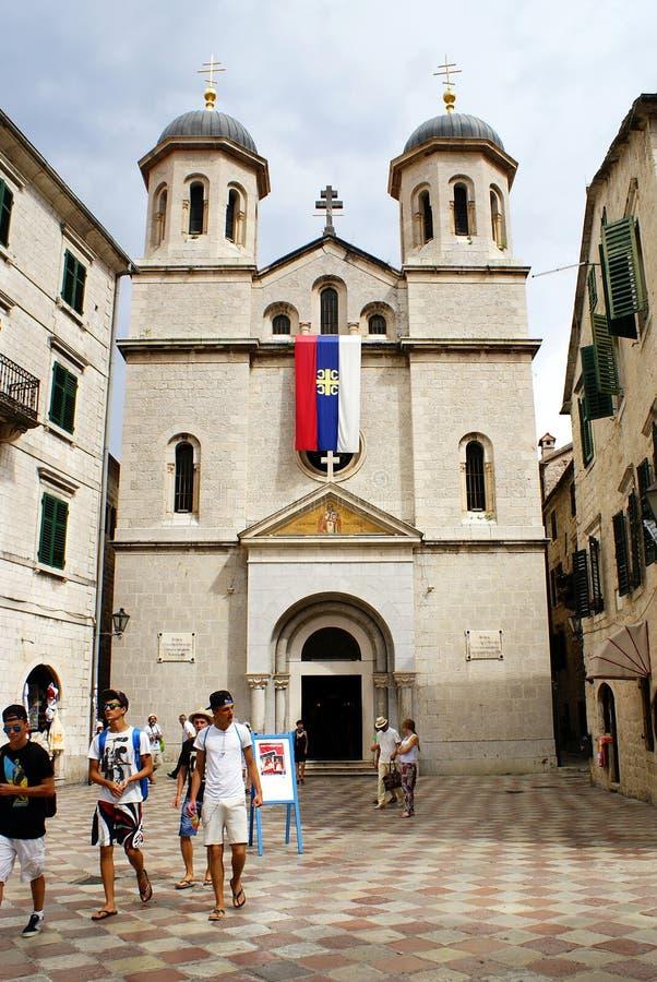 Kotor, Montenegro - July 07, 2014: St. Nikola Church royalty free stock images