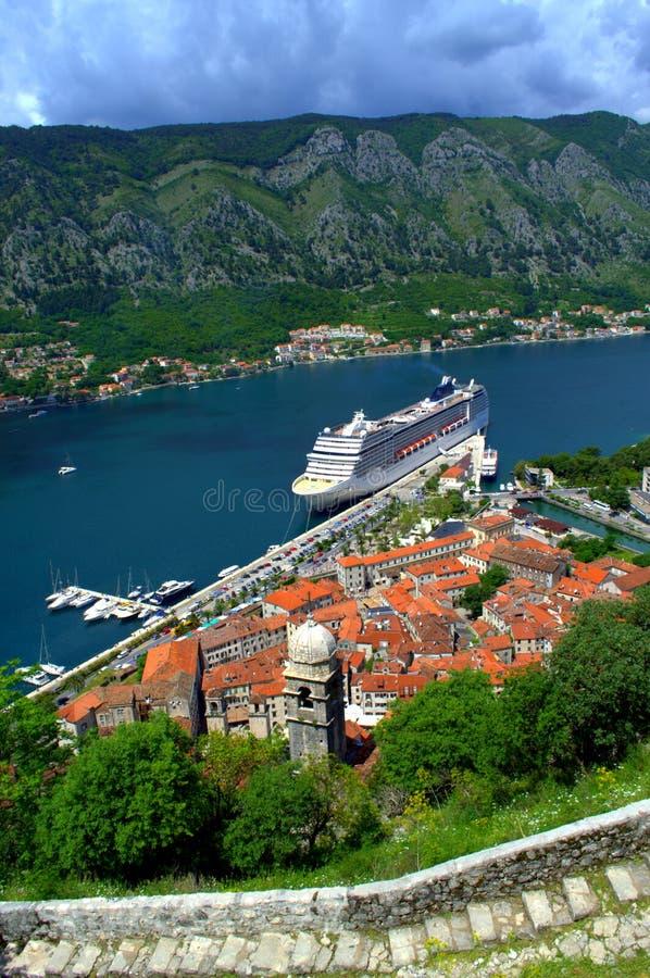 Kotor port view,Montenegro stock image