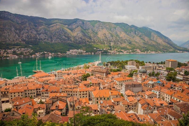Kotor w pięknym letnim dniu, Montenegro zdjęcia royalty free