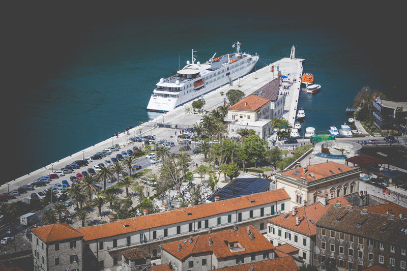 Kotor w pięknym letnim dniu, Montenegro obraz royalty free