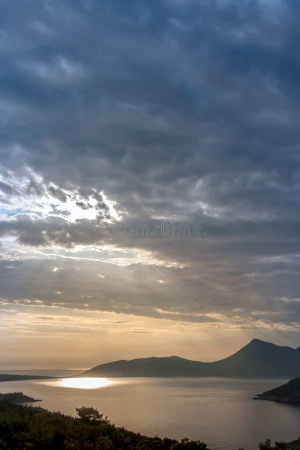 Kotor zatoka zdjęcie royalty free
