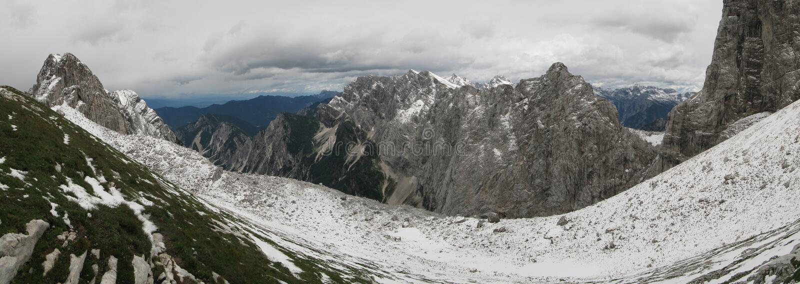 Kotovo Sattel Triglav im Nationalpark stockbild