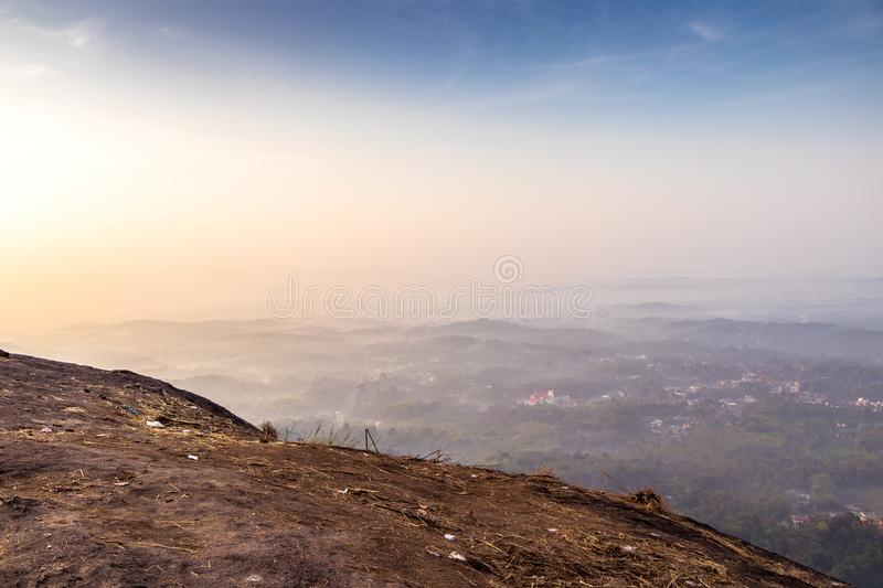 Kottapara hillsKottappara ViewPoint is the newest addition to tourism in Idukki district of Kerala. Kottapara is just about 2 km from Vannapparum town, towards royalty free stock image