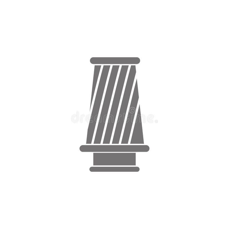 Kottefiltersymbol royaltyfri illustrationer