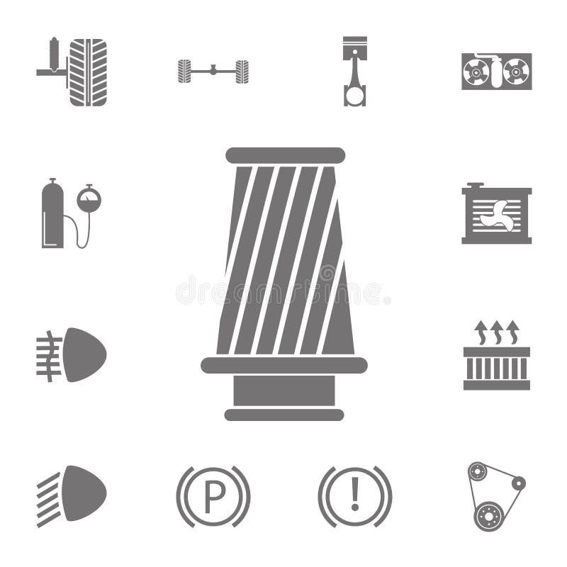 Kottefiltersymbol Uppsättning av bilreparationssymboler Tecken av samlingen, enkla symboler för websites, rengöringsdukdesign, mo stock illustrationer