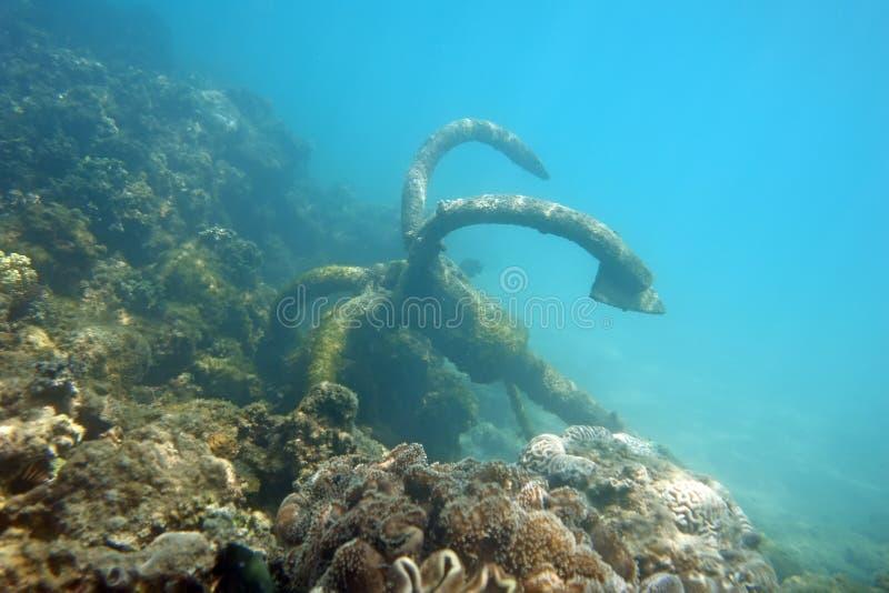 Kotwica pod morzem obraz royalty free