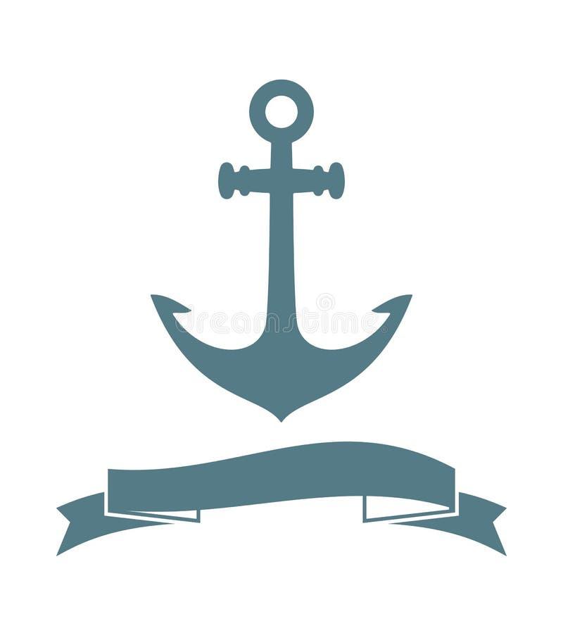 Kotwicowa odznaka ilustracja wektor