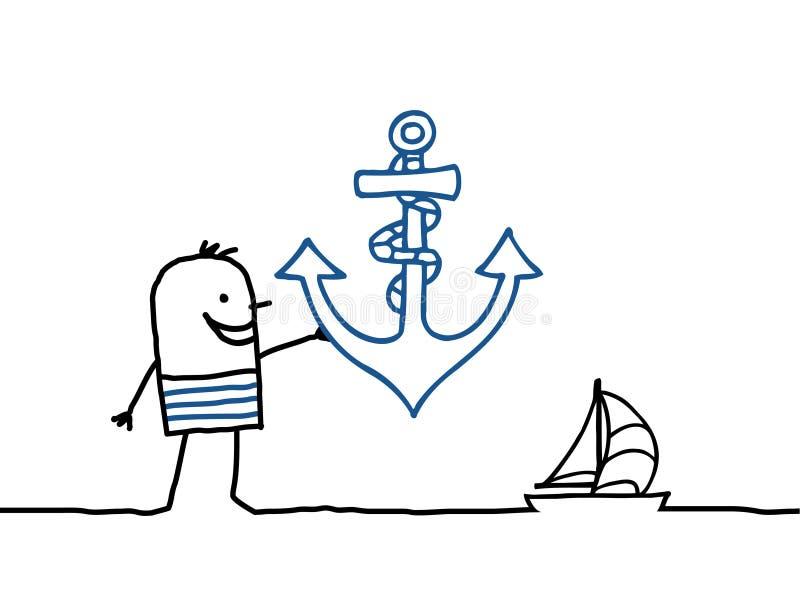 kotwicowy żeglarz ilustracji