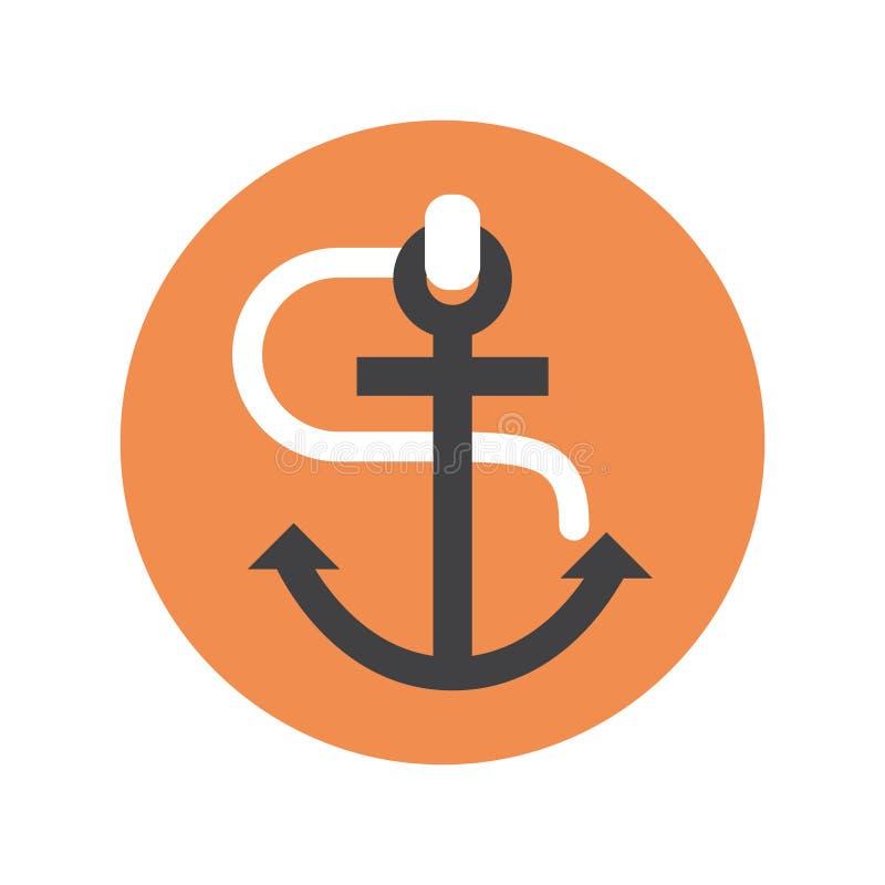 Kotwicowy ikona statku wyposażenia pojęcie ilustracji