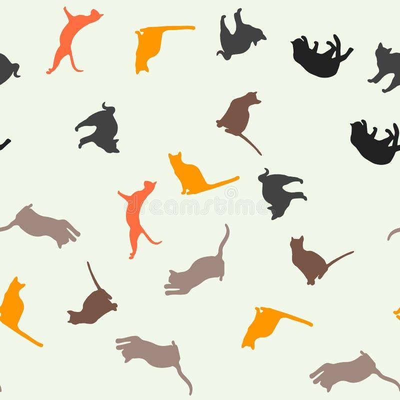 koty deseniuj? bezszwowego ilustracji