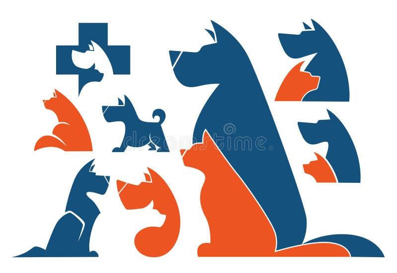 Download Koty i psy ilustracja wektor. Ilustracja złożonej z szczęśliwy - 57652639