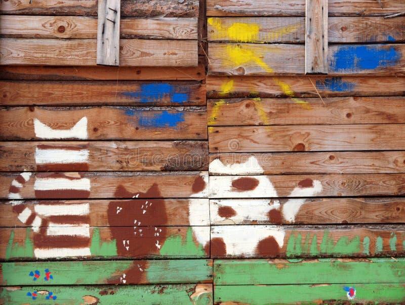 Koty Na stajni obrazy stock