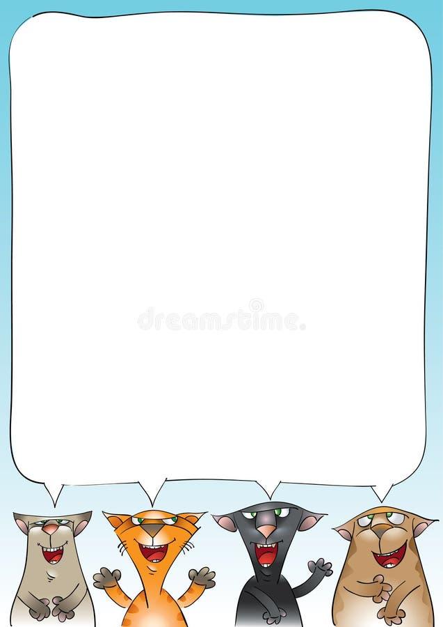 Download Koty target2369_1_ cztery ilustracja wektor. Obraz złożonej z mowa - 21119575