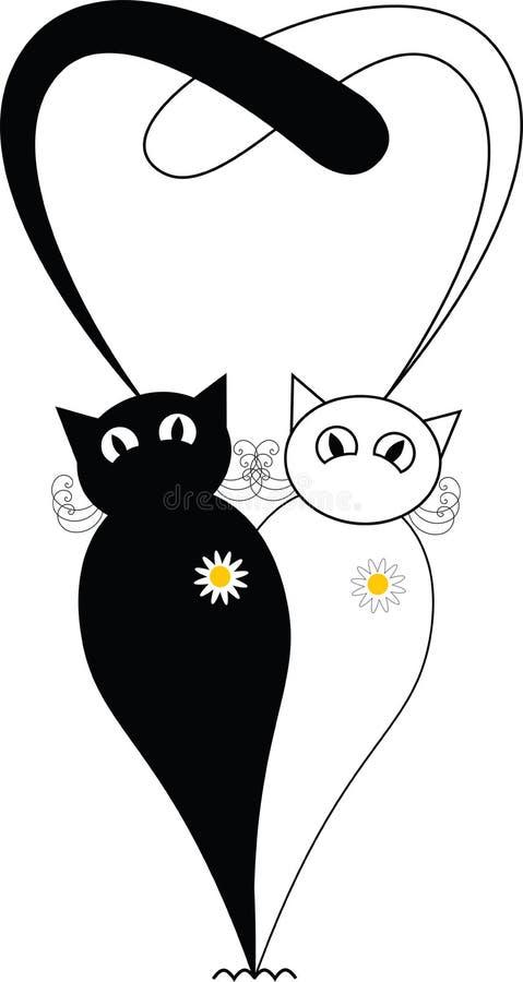 Koty w miłości zdjęcie stock