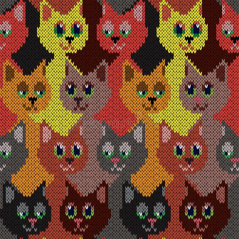 Koty z śmieszyć twarze royalty ilustracja
