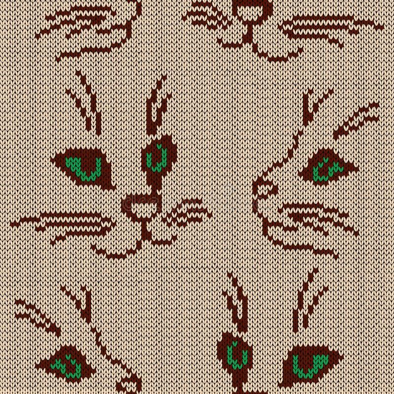 Koty z zielonymi oczami ilustracja wektor