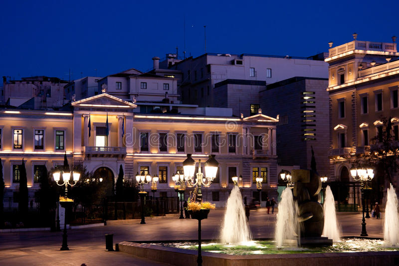 Kotzia Square And Athens Cityhall Stock Photography