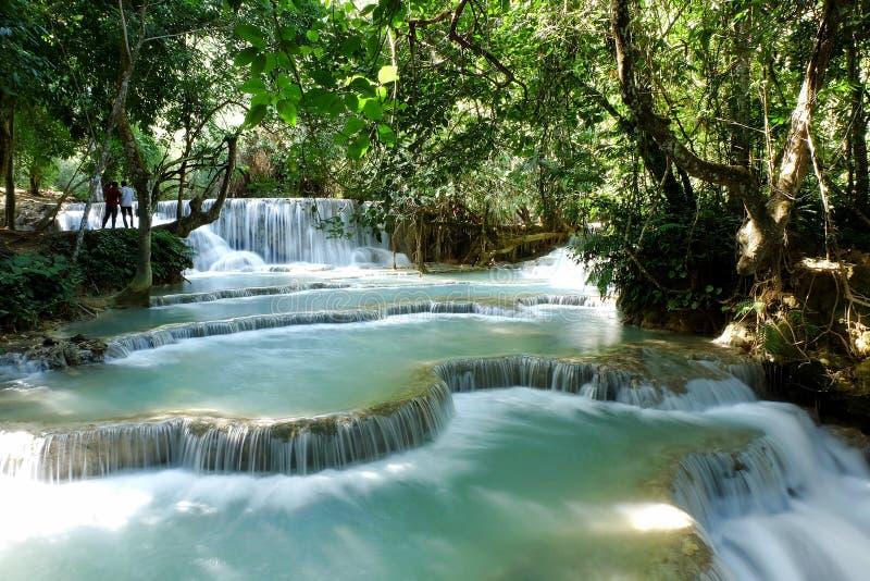 Kouang Xi Watervallen royalty-vrije stock afbeelding