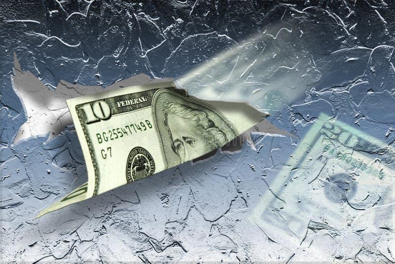 Koud Contant geld vector illustratie