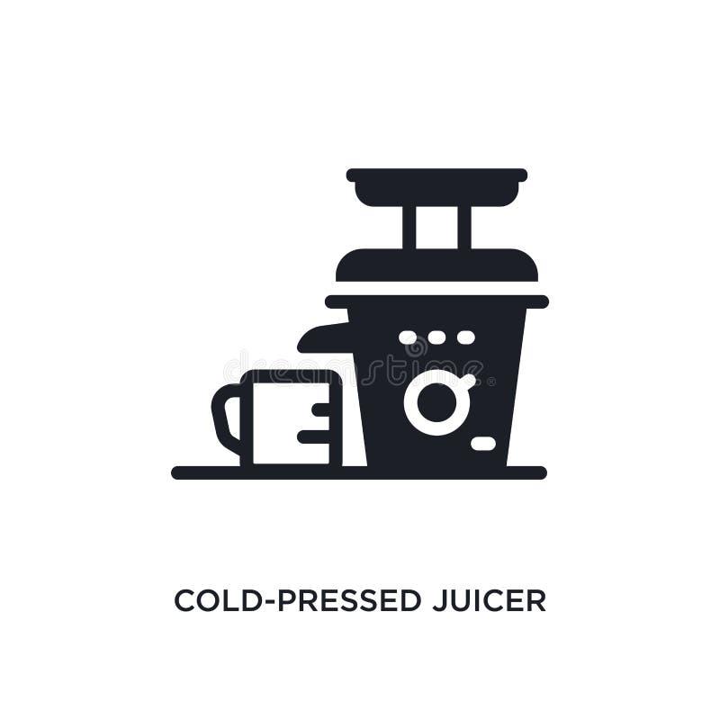 koud geperst juicer geïsoleerd pictogram eenvoudige elementenillustratie van de elektronische pictogrammen van het apparatenconce stock illustratie