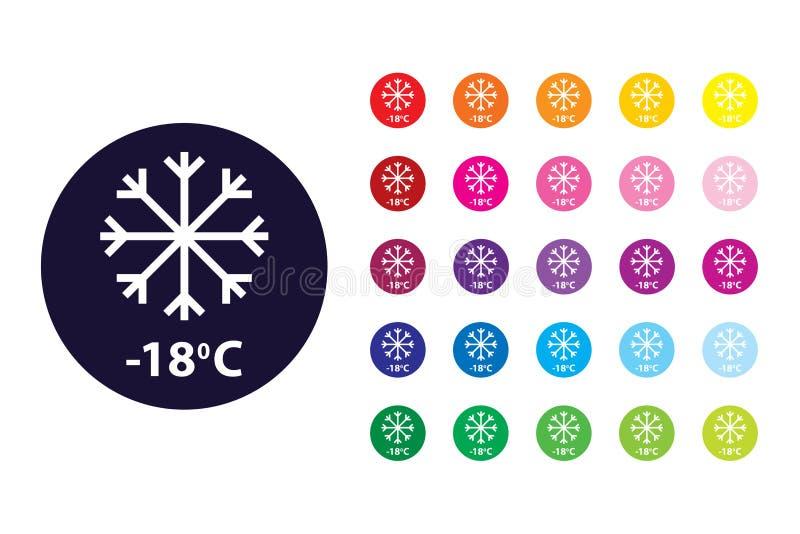 Koud tekenpictogram Koud kleurensymbool vector illustratie