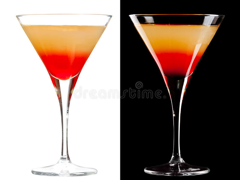 Koude Alcoholische Cocktail Stock Foto's