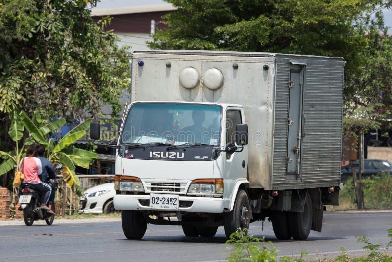 Koude Containervrachtwagen voor Ijsvervoer stock afbeeldingen
