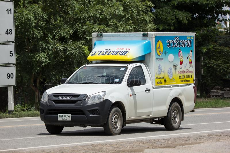 Koude Containervrachtwagen voor Ijsvervoer royalty-vrije stock afbeelding