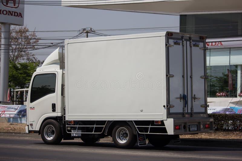 Koude Containervrachtwagen voor Ijsvervoer royalty-vrije stock foto