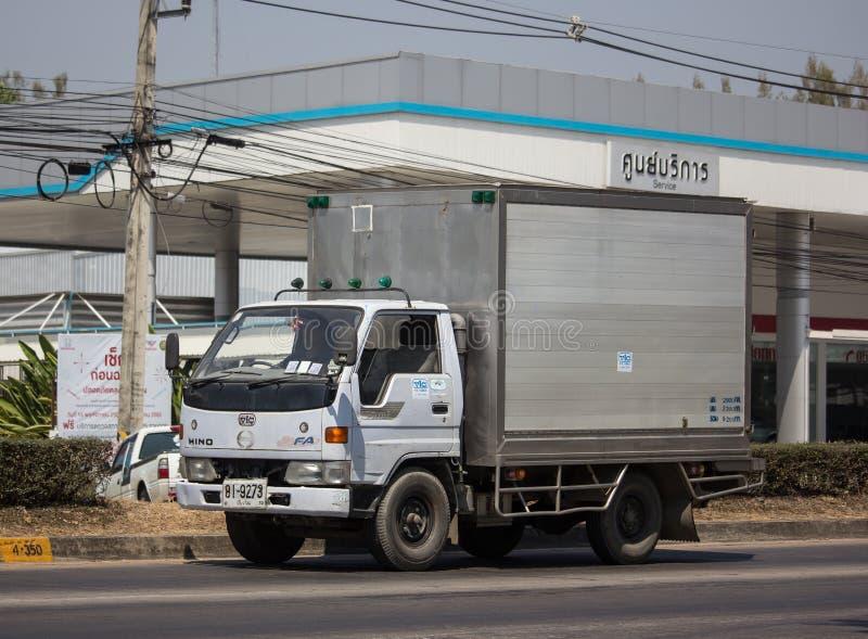 Koude Containervrachtwagen voor Ijsvervoer stock afbeelding