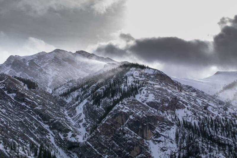 Koude dag in de bergen stock foto