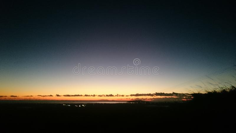 Koude Dawn Over Byron Bay stock foto's