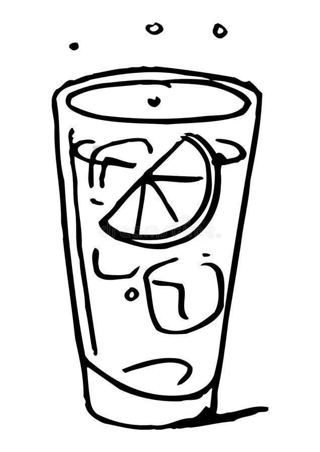 Koude drank vector illustratie