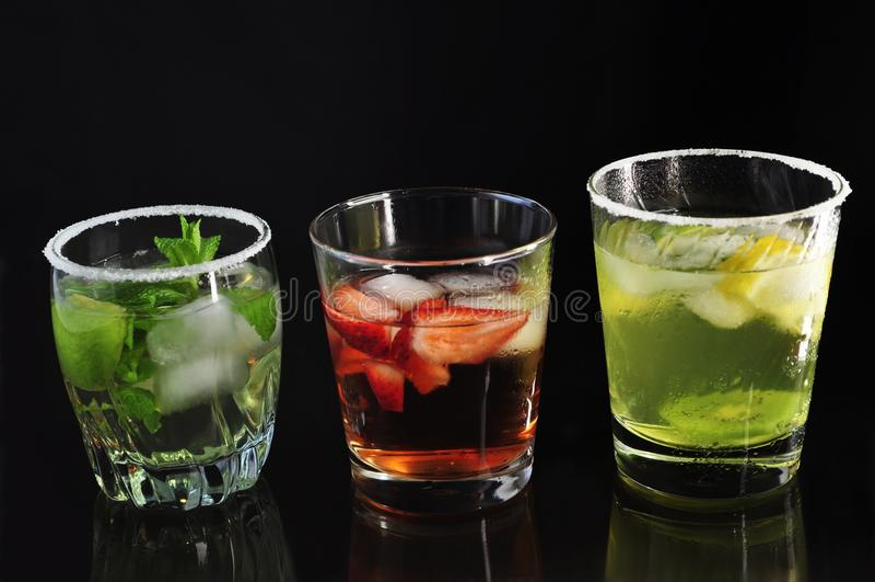 Koude dranken stock foto