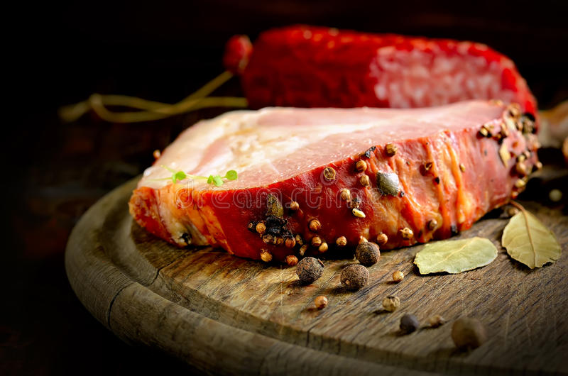 Koude gekookt varkensvlees stock fotografie