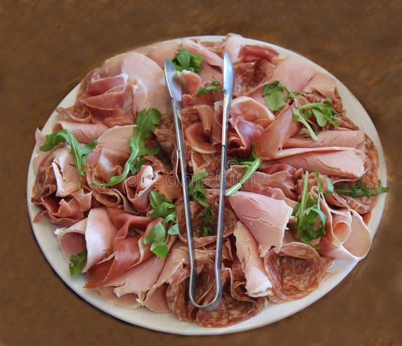 Koude Gekookte Vleesschotel stock foto