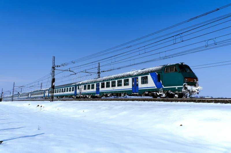 Koude trein royalty-vrije stock fotografie