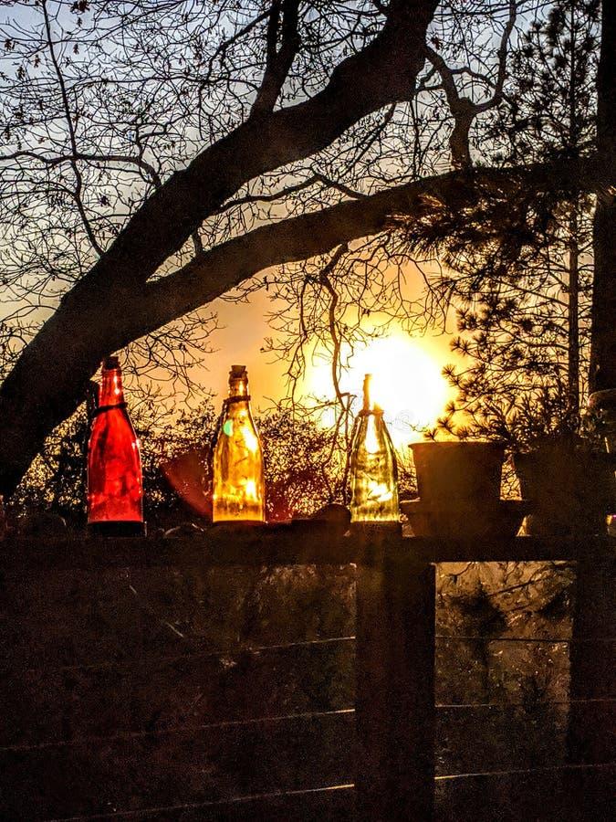 Koude twilight luzy in de winter stock afbeeldingen