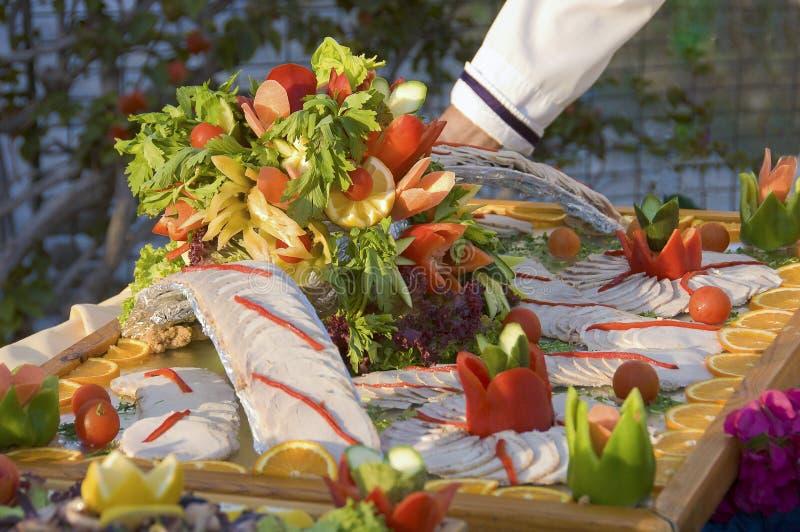 Koude vlees en groenten royalty-vrije stock foto