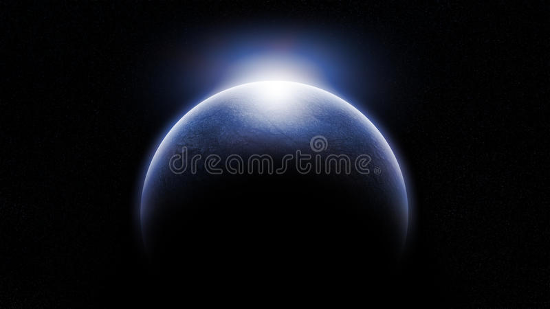 Koude Vreemde Planeet royalty-vrije illustratie