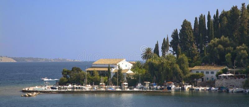 Kouloura Korfu stock foto's