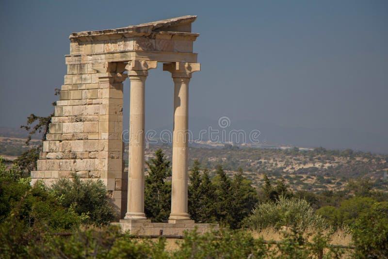 Kourion (ΚΠ¿ Ï  Ï  Î ¹ Î ¿ Î ½),塞浦路斯 阿波罗hylates圣所 库存图片