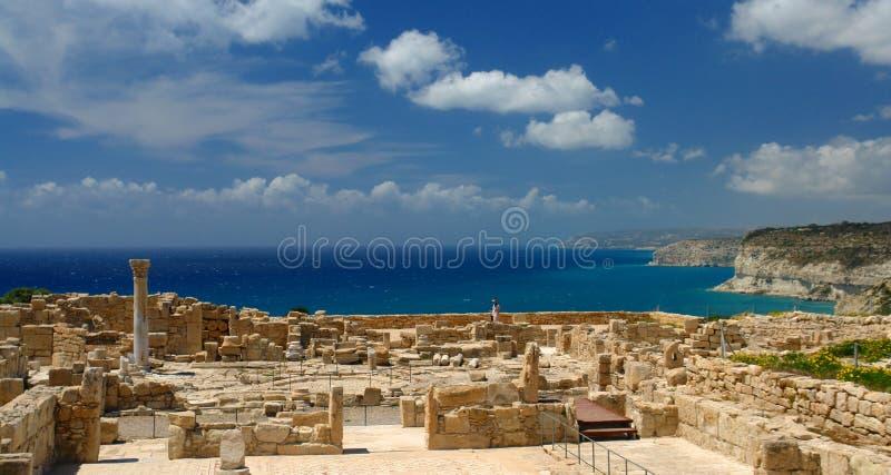 Kourion archeological site in cyprus stock photos